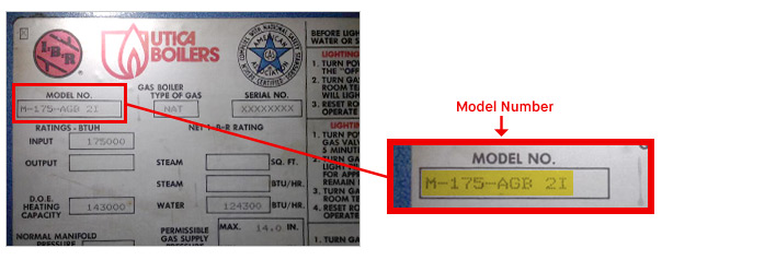 What is Utica-Dunkirk Model Number