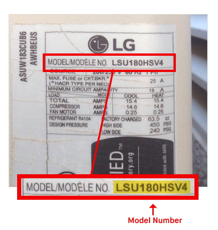 What is LG Model Number