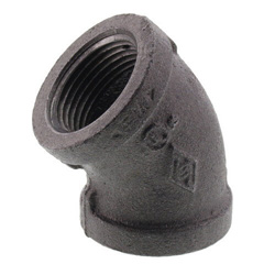 Black 45° Elbows (Imported)
