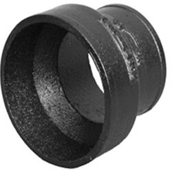"""4"""" x 3"""" No Hub Cast Iron Short Pipe Reducer Product Image"""