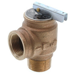 "3/4"" MNPT x 3/4"" FNPT RVW10 697,000 BTU Bronze Relief Valve (50 psi) Product Image"