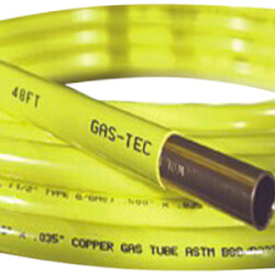 """Gas-Tec 1/2"""" OD x 50' Coated Copper Refrigeration Tubing Coil (Yellow) Product Image"""