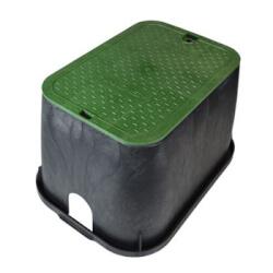 "14"" x 19"" Standard Series Irrigation Control Valve Box (Black Box/Green Cover) Product Image"