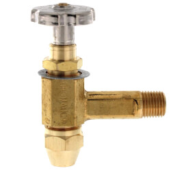 """3/8"""" ODF Inlet x 1/4"""" MPT Outlet Fusible Burner Angle Valve (1-1/4"""" Long) Product Image"""