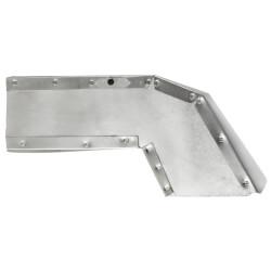 "3-1/4"" x 10"" Rectangular Range Hood Eave Vent w/ White Grille Product Image"