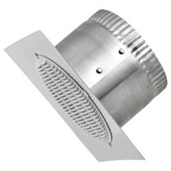 "3"" Aluminum White Eave Vent, 6"" Square Flange, 3"" Collar Product Image"