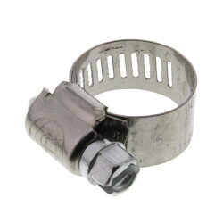 """3/8""""- 7/8"""" #6 Stainless Steel Hose Clamp w/ Carbon Screw Product Image"""