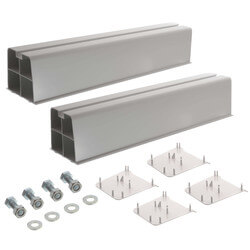 """17"""" White Hef-T-Block Mounting Block (Pack of 2) Product Image"""