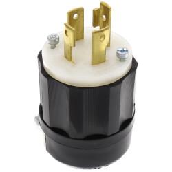 Industrial Grade Locking Plug, 30A, 3P, NEMA L14-30P - Black/White (125/250V) Product Image