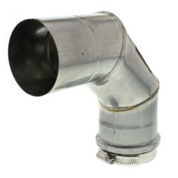 """3"""" x 90° Z-Vent<br>Single Wall Elbow Product Image"""