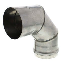 """4"""" x 90° Z-Vent<br>Single Wall Elbow Product Image"""