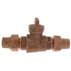 """3/4"""" Flare x Flare Curb Stop - T-5200NL (No Lead Bronze) Product Image"""