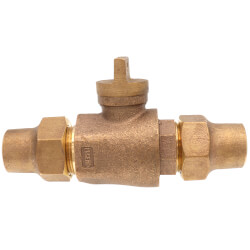 """1"""" Flare x Flare Curb Stop - T-5200NL (No Lead Bronze) Product Image"""
