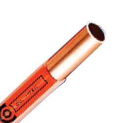"Oil V-Tec 3/8"" OD x 50' Coated Copper Type L Tubing Coil (Orange) Product Image"