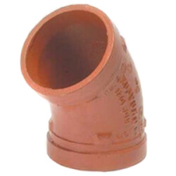 """1"""" Grooved 45° Galvanized Elbow (7051 Series) Product Image"""