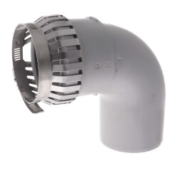 """3"""" PolyPro 90° Elbow w/ Locking Clamp Product Image"""