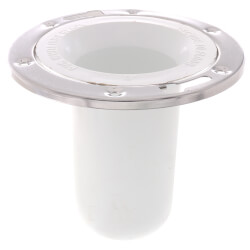 """3"""" x 6"""" Street Closet Flange w/ Stainless Steel Ring for PVC Product Image"""