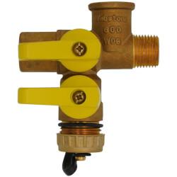 "1/2"" Pro-Pal Full Port Brass Ball Valve w/ Hi-Flow Hose Drain Product Image"