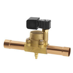 """1/4"""" ODF R16E32 Normally Closed Refrigeration Solenoid Valve Product Image"""