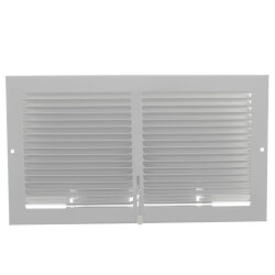 """12"""" x 6"""" (Wall Opening) Steel Baseboard Register with Plate Damper (654 Series) Product Image"""