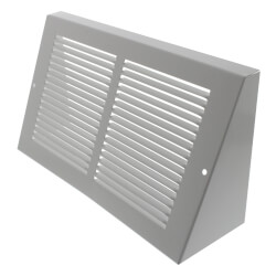 """10"""" x 6"""" White Baseboard Return Air Grille <br>(658 Series) Product Image"""