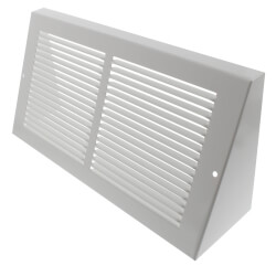 """12"""" x 6"""" White Baseboard Return Air Grille <br>(658 Series) Product Image"""