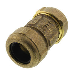 """3/4"""" IPS (1"""" CTS) Brass Compression Coupling (Lead Free) Product Image"""