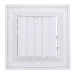 """6"""" x 6"""" (Wall Opening Size) White Ceiling Diffuser (A505MS Series) Product Image"""
