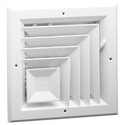 """10"""" x 10"""" (Wall Opening Size) White Ceiling Diffuser (A505MS Series) Product Image"""