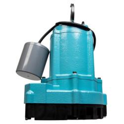 9EC-CIM 4/10 HP, 70 GPM, Manual Submersible Sump Effluent Pump, 10' Cord (115v) Product Image