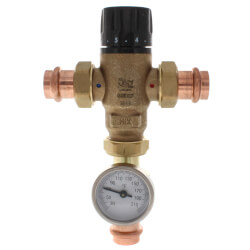 """3/4"""" Press MIXCAL <br>3-Way Thermostatic<br>Mixing Valve w/ Gauge Product Image"""