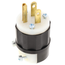 Industrial Grade, Straight Blade Plug 15A<br>NEMA 5-15P - Black/White Product Image