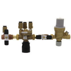 """1/2"""" Threaded 574 Brass RPZ Backflow Preventer w/ AutoFill Combo (Lead Free) Product Image"""