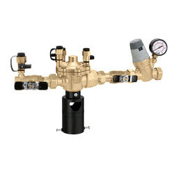 """3/4"""" Threaded 574 Brass RPZ Backflow Preventer & AutoFill Combo w/ Gauge (Lead Free) Product Image"""