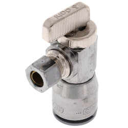 """1/2"""" QUICK-GRIP x 3/8"""" OD Comp Angle Stop Valve (Lead Free) Product Image"""
