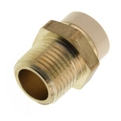 """1/2"""" CPVC x MIP Brass Straight Adapter (Lead Free) Product Image"""
