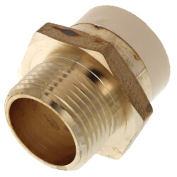 """1"""" CPVC x MIP Brass Straight Adapter (Lead Free) Product Image"""