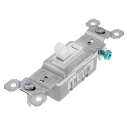 Single-Pole Grounding Toggle Switch, 15A - White (120V) Product Image