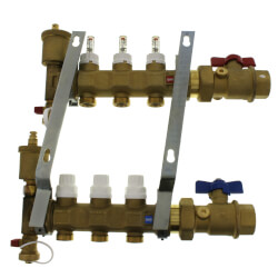 """1"""" TwistFlow Inverted Manifold w/ Temp Gauge (3 Outlets) Product Image"""