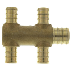 """PEX Crimp Multiport Tee (4) 1/2"""" Branches (1) 3/4"""" Trunk End Product Image"""