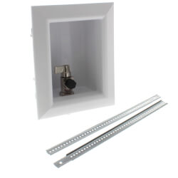 """Ox Box Ice Maker Outlet Box Standard Pack <br>No Lead (1/2"""" PEX Crimp) Product Image"""