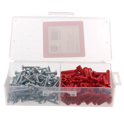 """#10 x 1-1/4"""" Plastic Anchor Kit with Drill Bits (100 Screws/Anchors) Product Image"""