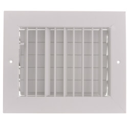 """8"""" x 6"""" (Wall Opening Size) White Commercial Supply Register (821 Series) Product Image"""