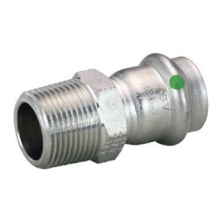 """1/2"""" Male ProPress 316 Stainless Steel Adapter Product Image"""