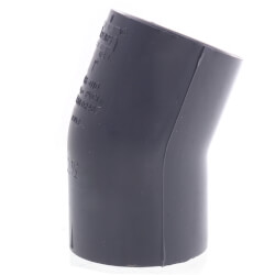 """1"""" PVC Schedule 80 22.5° Elbow Product Image"""