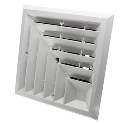 """MV2S Ceiling Diffuser<br>w/ 2-Way Grille (6"""" x 6"""") Product Image"""