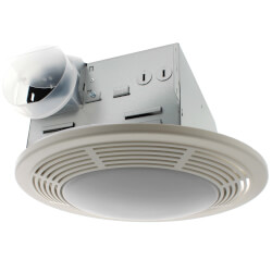 """8663RP Vent Fan w/ Light & Night Light, 4"""" Round Duct (100 CFM) Product Image"""