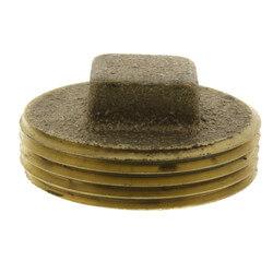 "1-1/4"" Brass Raised Head Cleanout Plug Product Image"