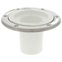 """3"""" Inside Open Flange w/ Stainless Steel Swivel Ring, 4"""" Long Outlet Product Image"""
