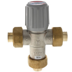 """1/2"""" Lead Free Union Sweat Mixing Valve<br>(70&#176;F-145&#176;F) Product Image"""